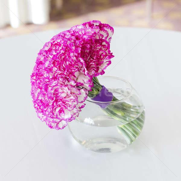 Bouquet vaso fiore foglia vetro gruppo Foto d'archivio © art9858