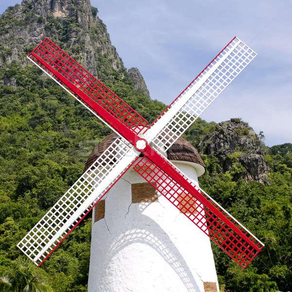 Traditional Dutch windmills Stock photo © art9858