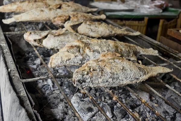 Thai Food, Salt-Crusted Grilled Fish Stock photo © art9858