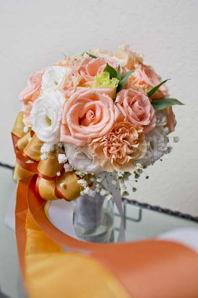 Flower bouquet orange, white and yellow. Stock photo © art9858