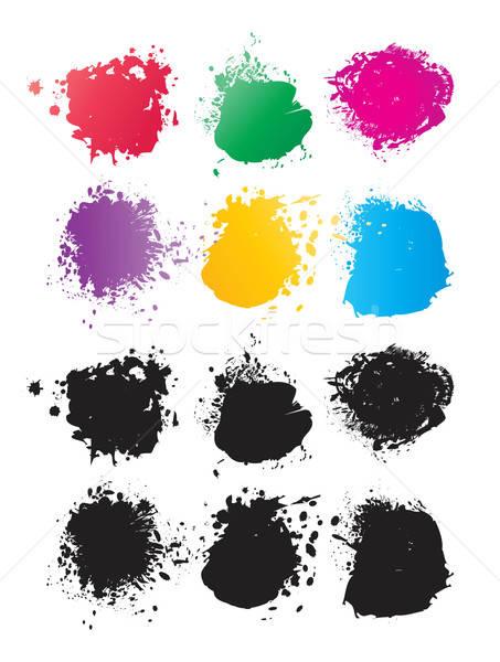 Vektör renk noktalar ayarlamak elemanları yalıtılmış Stok fotoğraf © artag