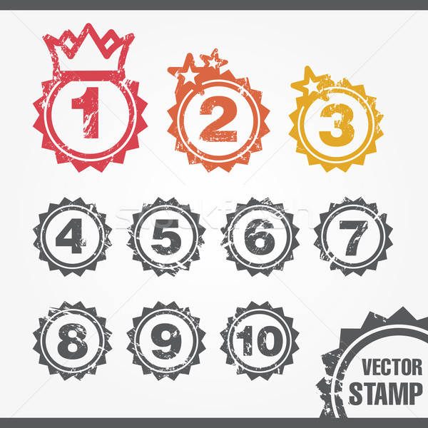 Stamp for Ranking Stock photo © artag