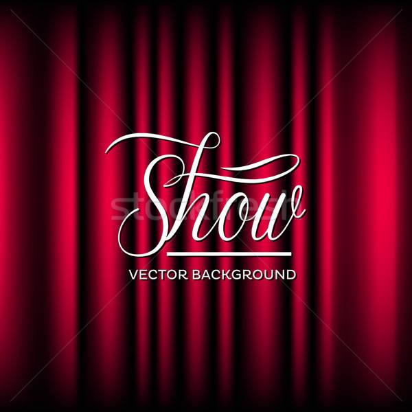 театра шоу вектора закрыто занавес дизайна Сток-фото © artag