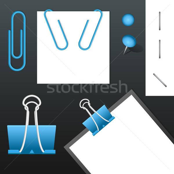 Ayarlamak vektör farklı elemanları iş ofis Stok fotoğraf © artag