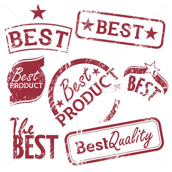 En iyi ayarlamak vektör kalite ürünleri Stok fotoğraf © artag
