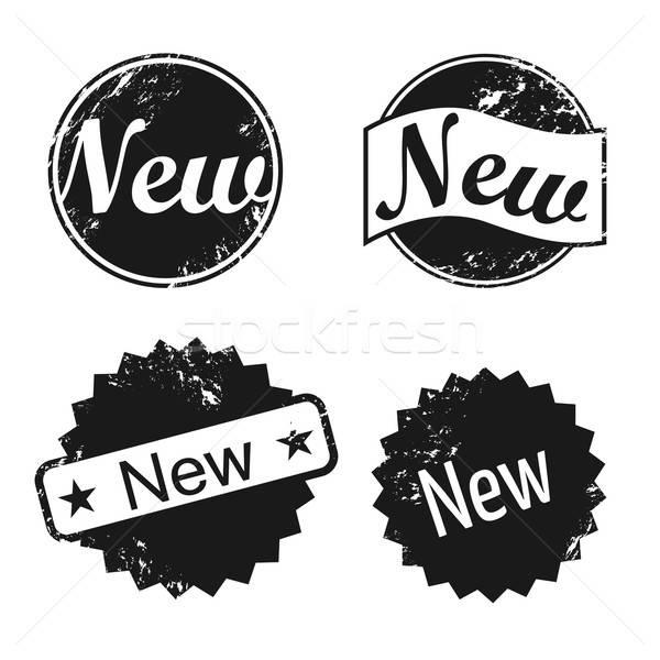 новых вектора штампа набор элемент изолированный Сток-фото © artag