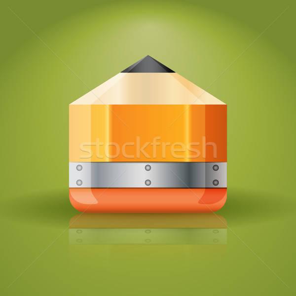 Kalem ikon örnek uygulaması yalıtılmış Stok fotoğraf © artag