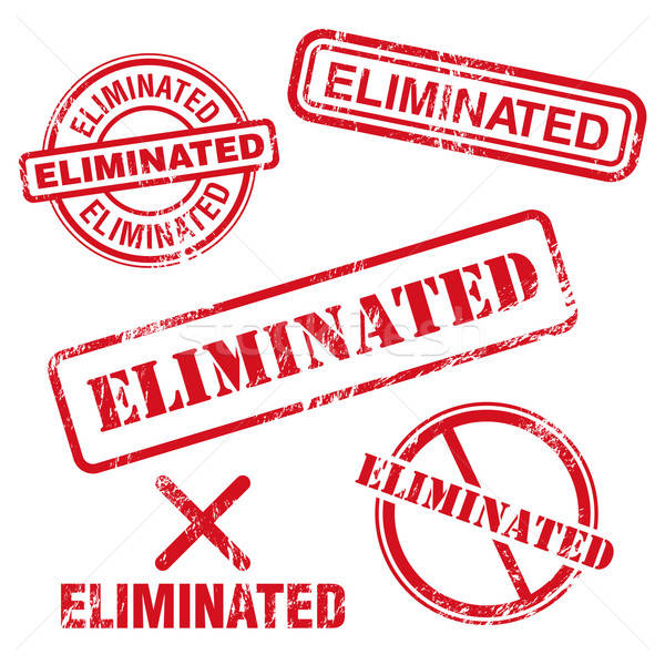 Eliminated Stamp Stock photo © artag