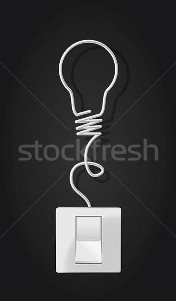 Switch and bulb made with cable Stock photo © artag
