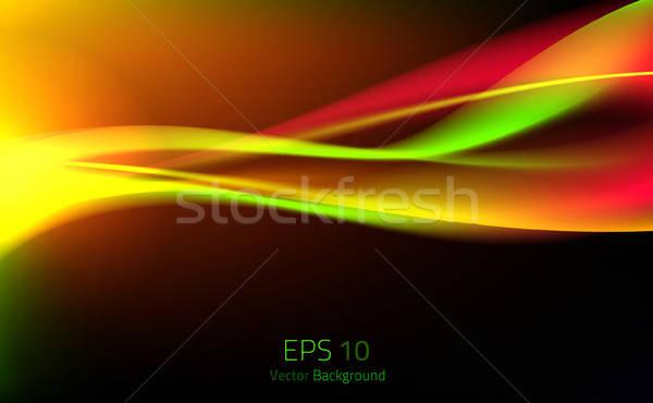 Soyut renk dalga etki renkli ışık Stok fotoğraf © artag