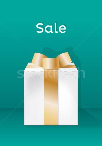 продажи шаблон подарок сумку иллюстрированный Сток-фото © artag