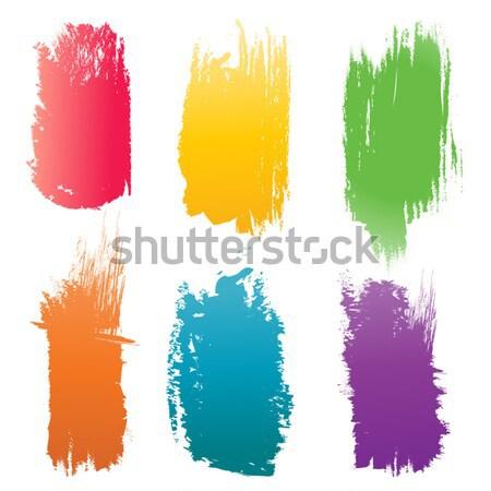 набор цвета щетка вектора Элементы изолированный Сток-фото © artag