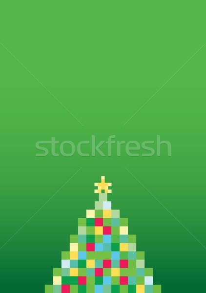 Noel ağacı örnek stilize kâğıt soyut arka plan Stok fotoğraf © artag