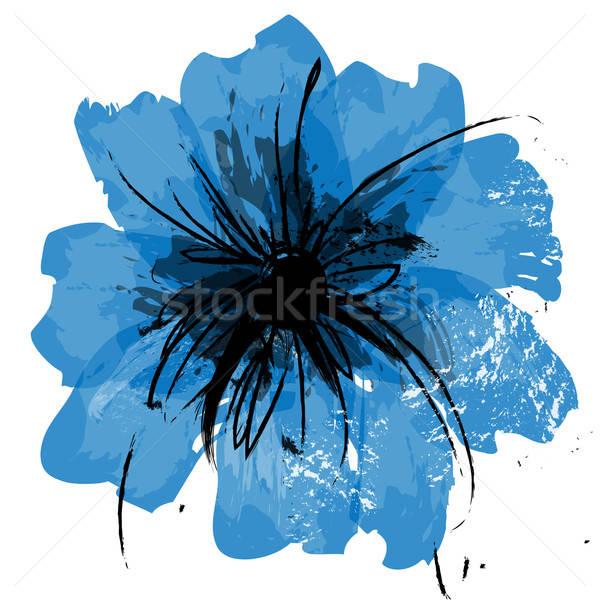 цветок вектора Живопись иллюстрация стилизованный окрашенный Сток-фото © artag