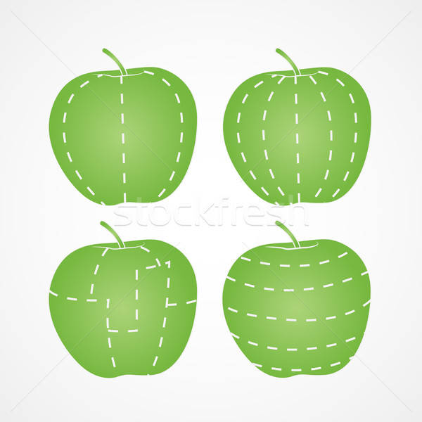 Apple cut in different ways Stock photo © artag