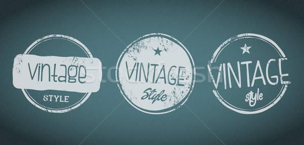 Vintage штампа Label набор элемент изолированный Сток-фото © artag