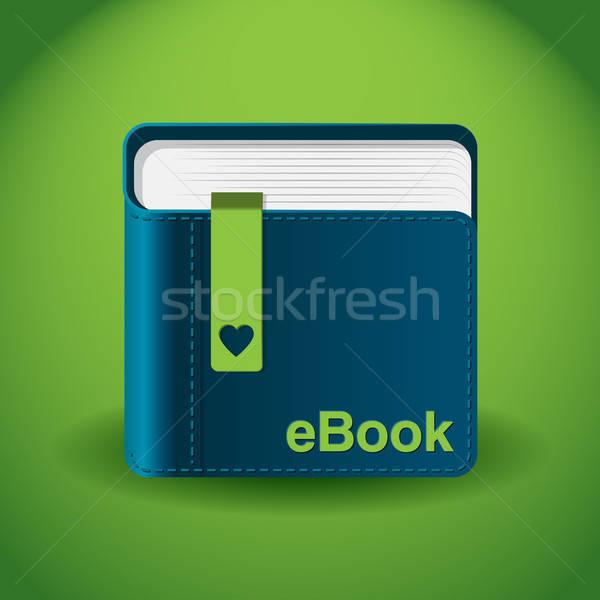 E-kitap uygulaması ikon örnek yalıtılmış Stok fotoğraf © artag
