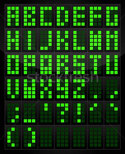 Dijital alfabe tablo vektör elemanları yalıtılmış Stok fotoğraf © artag