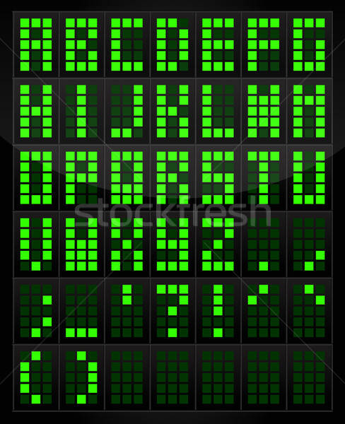 Digital Alphabet Table Stock photo © artag