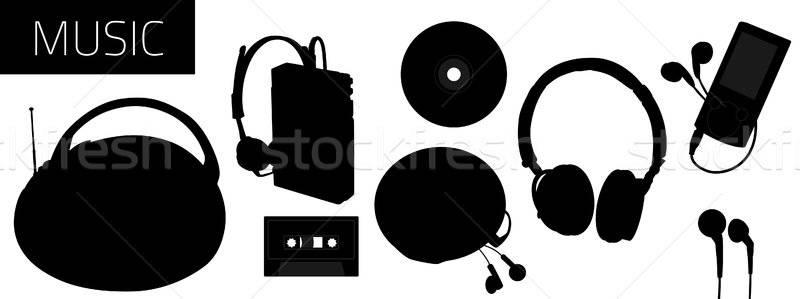 музыку вектора инструменты слушать звук Сток-фото © artag