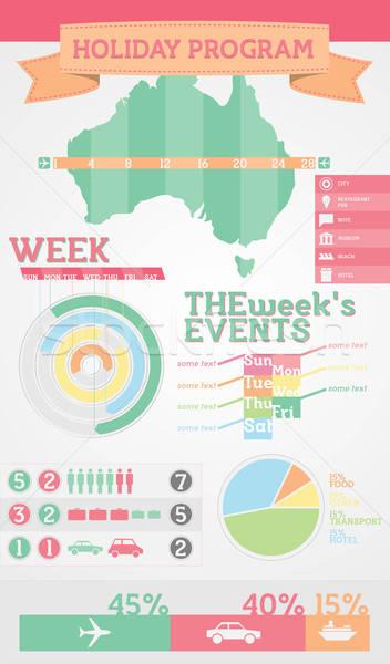 Infografica elementi campione vacanze programma icone Foto d'archivio © artag