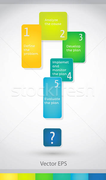 Problémamegoldás infografika vektor alkotóelem lépcső család Stock fotó © artag