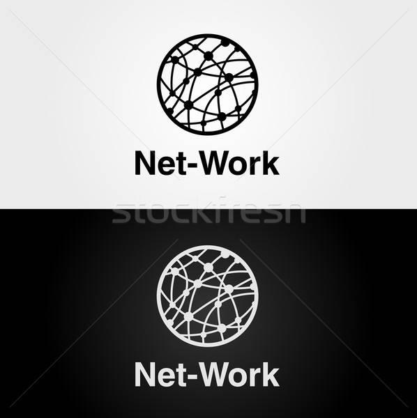 логотип темы интернет сеть компьютер вектора Сток-фото © artag