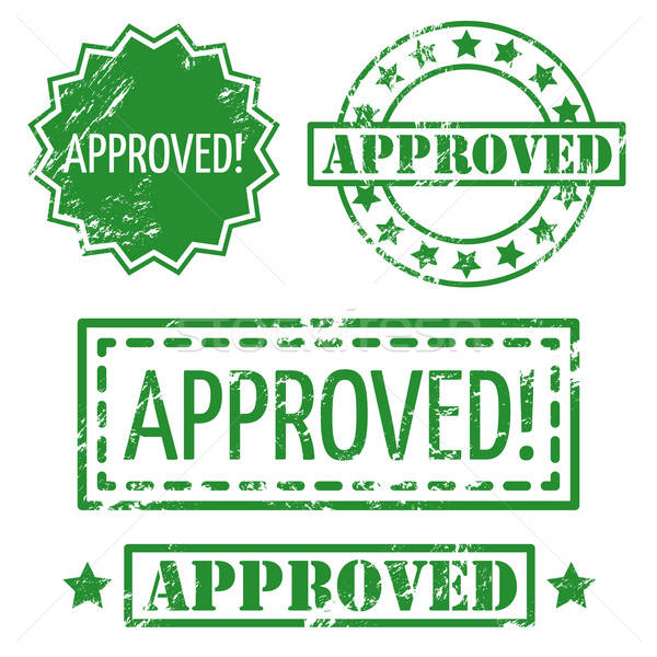 Set of Approved Rubber Stamp Stock photo © artag