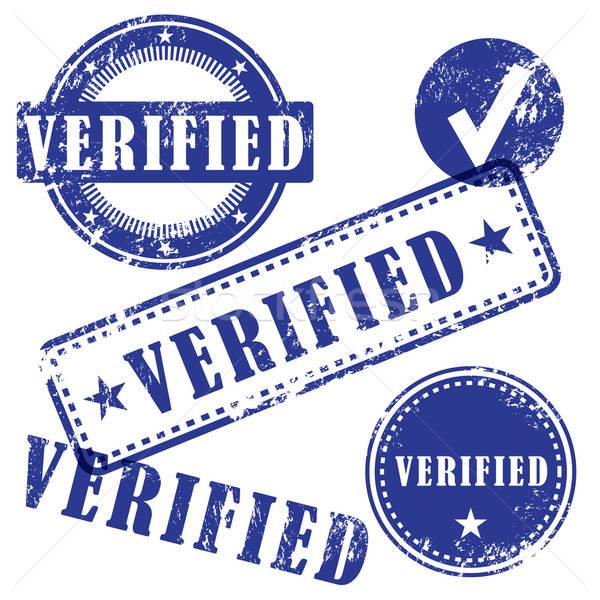 Verified Vector Stamp Set Stock photo © artag