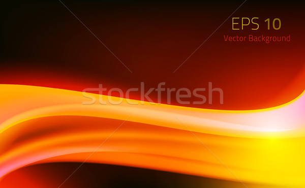 аннотация огня волна эффект изолированный Сток-фото © artag