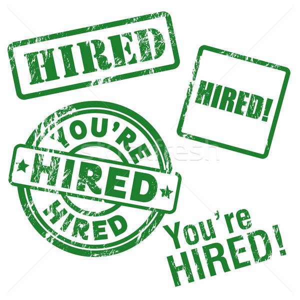 Hired Vector Stamp Stock photo © artag