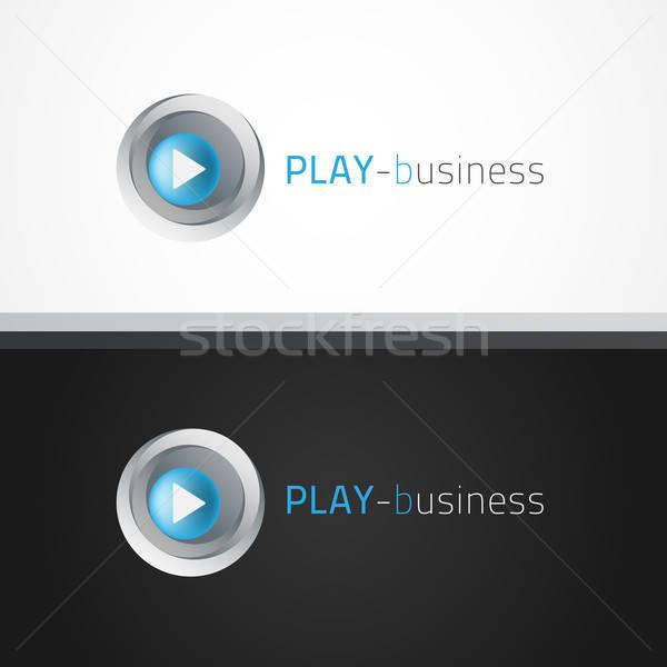 Oynamak logo şablon örnek metin can Stok fotoğraf © artag