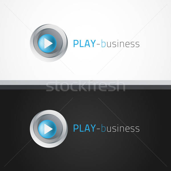 играть логотип шаблон образец текста можете Сток-фото © artag