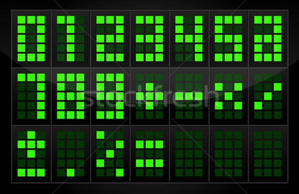 Dijital sayılar tablo vektör elemanları yalıtılmış Stok fotoğraf © artag