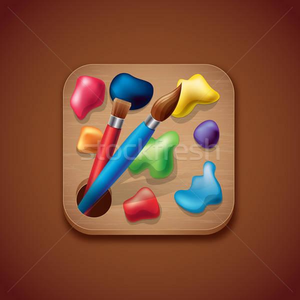 палитра приложение икона иллюстрация элемент изолированный Сток-фото © artag
