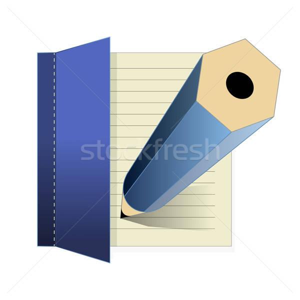 Notlar ikon vektör iş kitap okul Stok fotoğraf © artag