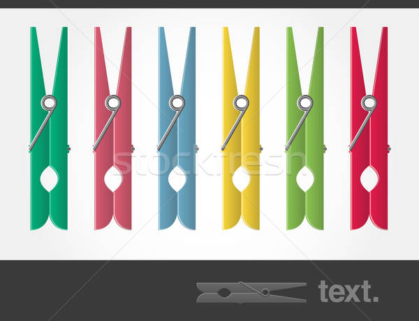 Vector Colored Pegs Stock photo © artag