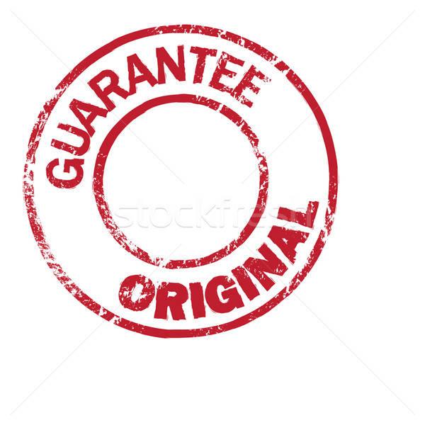 Orijinal garanti vektör damga ofis dizayn Stok fotoğraf © artag