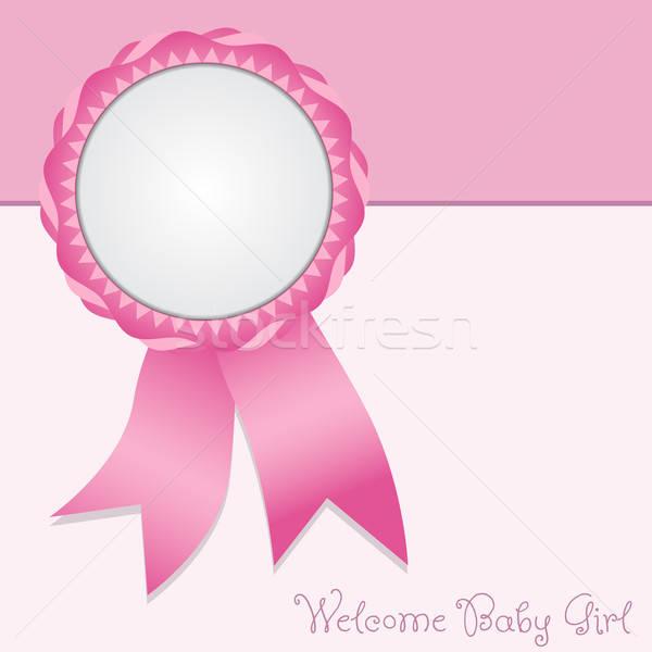 Tebrik kartı karşılama vektör doğum duyuru Stok fotoğraf © artag