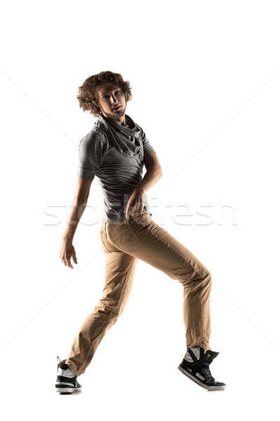 Jonge mooie danser poseren studio jonge man Stockfoto © artfotodima