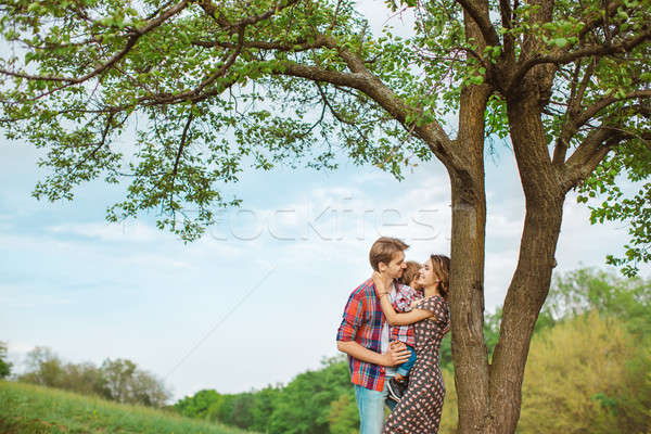 幸せな家族 自然 写真 小さな 家族 ストックフォト © artfotodima
