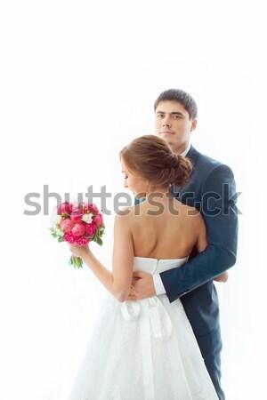 невеста жених свадьба пару любви Сток-фото © artfotodima