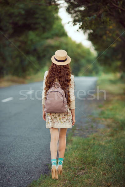 Beautiful young woman traveling. Stock photo © artfotodima