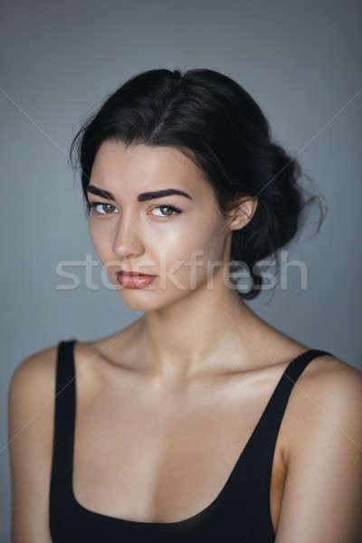 Mooie vrouw huilen schoonheid meisje huilen tranen Stockfoto © artfotodima