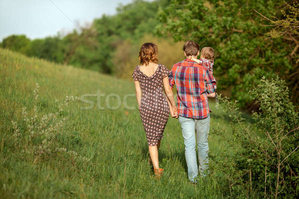 Summer Family Stroll Stock photo © artfotodima