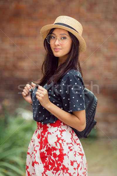 Portre kız kampus açık havada Stok fotoğraf © artfotodima
