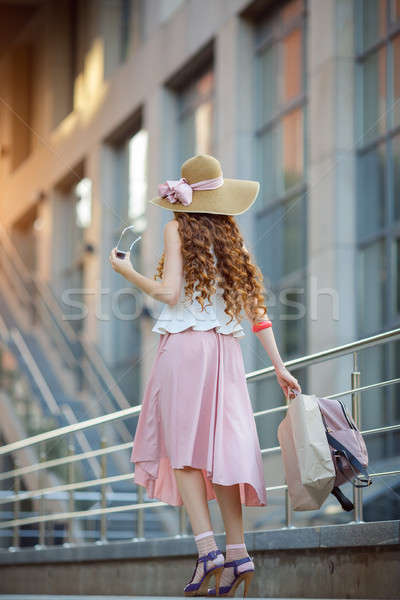Young woman with shopping bags Stock photo © artfotodima