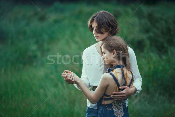 Amor aire libre pie forestales Foto stock © artfotodima