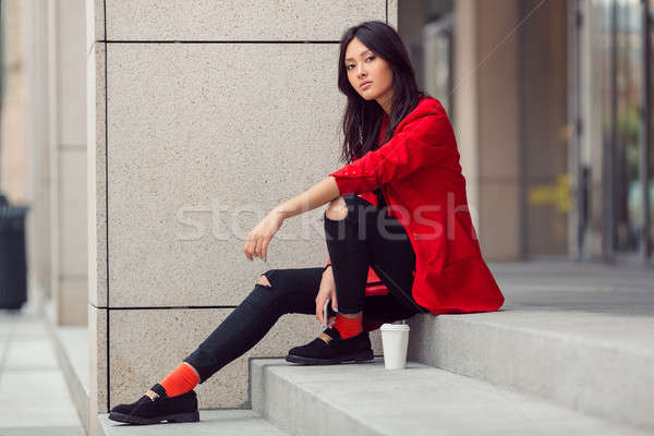 Asian woman young worker Stock photo © artfotodima