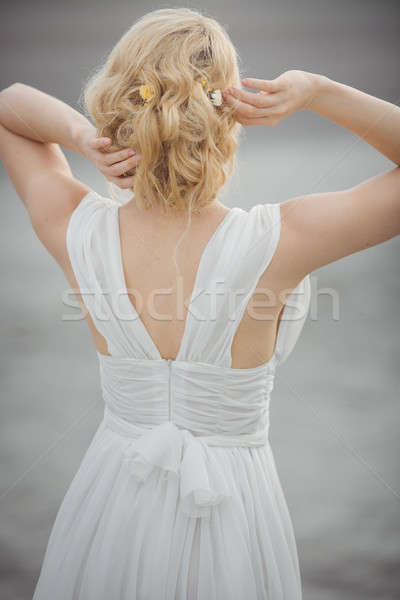 Back-view bridal hair style Stock photo © artfotodima